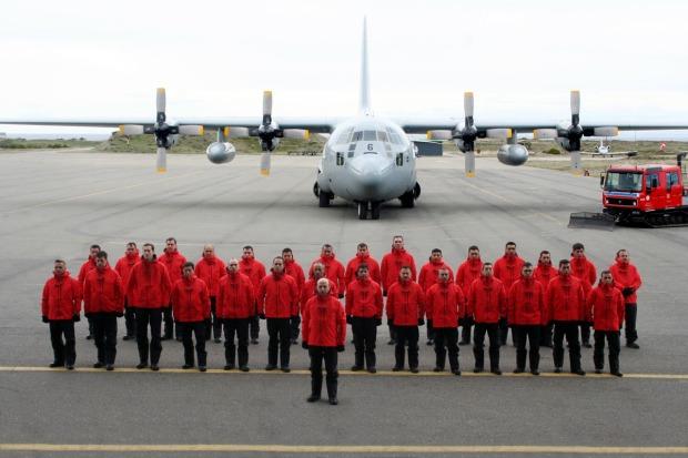"""Operación """"Glaciar Unión"""", Fuerza Aérea de Chile."""