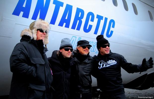 Metallica en la Antártica.