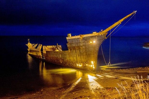Intervenci n art stica revivi al antiguo buque lonsdale a for Jardin villa austral punta arenas