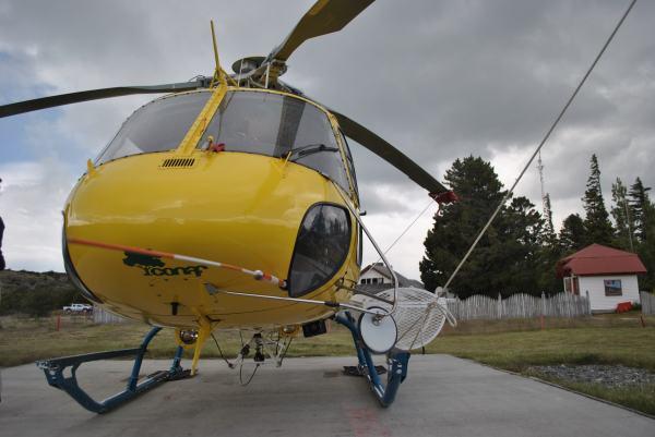 Helicóptero Conaf. Luisa Villablanca