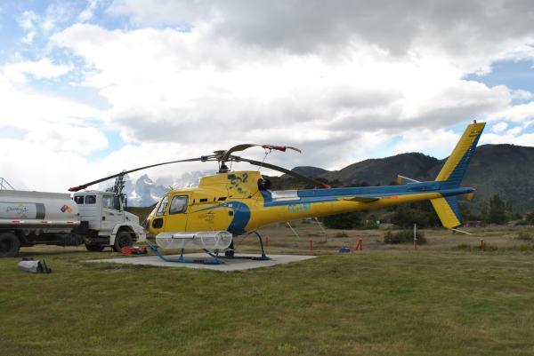 Helicóptero Torres del Paine. Luisa Villablanca