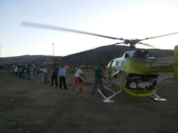 Aerorescate Grupo DAP en el norte de Chile.