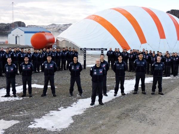 Aniversario FACH en la Antártica