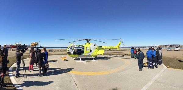 Sistema de evacuación aeromédica DAP. Foto Rafael González