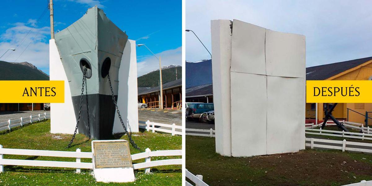 Armada reemplazará proa original de la Yelcho por réplica en Puerto Williams