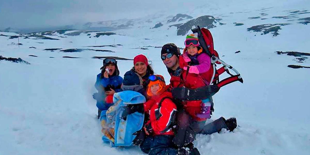 La entretenida historia de la familia que sumó un nuevo integrante durante su paso por la Antártica