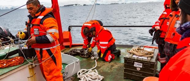 Anclaje Antártica