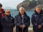 Peesidente Piñera en la Antártica